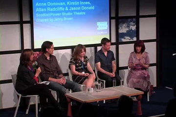 Anne Donovan, Kirstin Innes, Allan Radcliffe and Jason Donald (2010 event)
