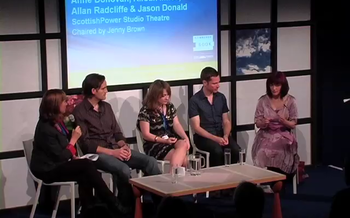 Anne Donovan, Kirstin Innes, Allan Radcliffe and Jason Donald (2010 event)