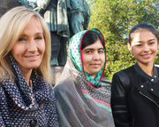 Malala Yousafzai Speaks at the Book Festival, introduced By J.K. Rowling