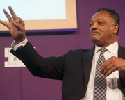 Civil rights campaigner Jesse Jackson speaks at the Book Festival
