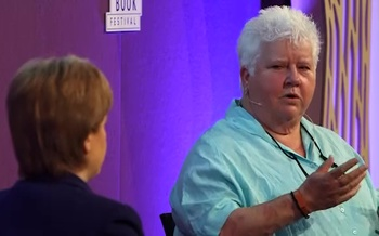 Val McDermid with Nicola Sturgeon (2015 Event)