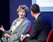 Edna O'Brien with Andrew O'Hagan (2011 event)