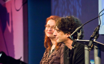 Neil Gaiman with Audrey Niffenegger (2011 event)
