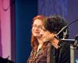 Neil Gaiman with Audrey Niffenegger (2011 event)