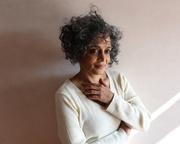 Arundhati Roy with Nicola Sturgeon