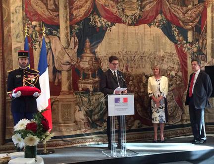 Director of Edinburgh International Book Festival awarded the Ordre National du Mérite by French Ambassador