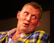 Rugby star and MND campaigner Doddie Weir receives a standing ovation at the Book Festival