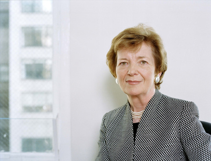 """""""Climate change is a man-made problem that requires a feminist solution,"""" says Mary Robinson"""