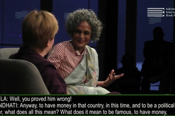 Arundhati Roy talks to Nicola Sturgeon at the Edinburgh International Book Festival