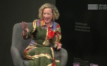 Cathy Newman at the Edinburgh International Book Festival