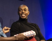 Casey Gerald talks to DeRay Mckesson at the Edinburgh International Book Festival