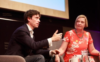 Rory Stewart speaks with Charlotte Higgins at the Edinburgh International Book Festival