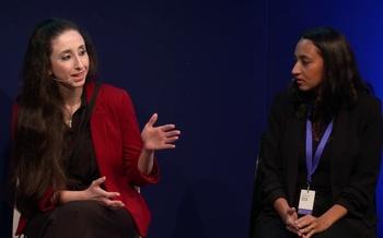 Nayrouz Qarmout talks to Esa Aldegheri at the Edinburgh International Book Festival