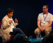Kit de Waal with Damian Barr at the Edinburgh International Book Festival