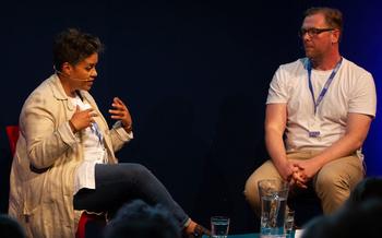 Kit de Waal with Damian Barr at the Edinburgh International Book Festival