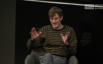 James Acaster at the Edinburgh International Book Festival