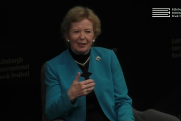 Mary Robinson at the Edinburgh International Book Festival