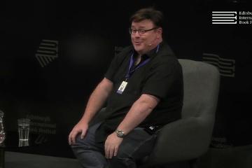 Derek Landy at the Edinburgh International Book Festival