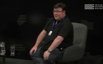 Derek Landy at the Edinburgh International Book Festival