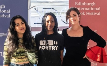 Charly Cox, Theresa Lola & Tayi Tibble at the Edinburgh International Book Festival