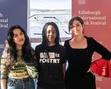 Charly Cox, Theresa Lola & Tayi Tibble at the Edinburgh International Book Festival