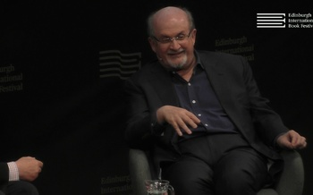Salman Rushdie talks to James Naughtie at the Edinburgh International Book Festival