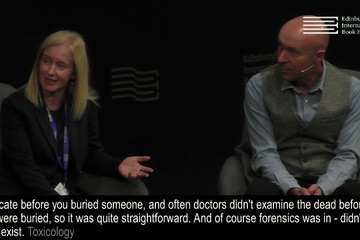Ambrose Parry (Chris Brookmye & Marisa Haetzman) at the Edinburgh International Book Festival
