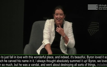 Victoria Hislop speaks with James Runcie at the Edinburgh International Book Festival