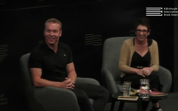 Chris Hoy at the Edinburgh International Book Festival