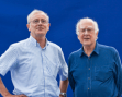 Frank Close with Peter Higgs (2012 event)