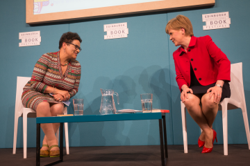 Jackie Kay with Nicola Sturgeon (2016 Event)