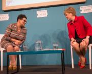 Jackie Kay with Nicola Sturgeon (2016 Event)