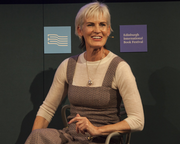 Judy Murray speaks at the Edinburgh International Book Festival