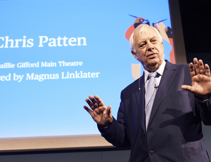 Chris Patten on Brexit, Hong Kong and Jacob Rees-Mogg at the Edinburgh International Book Festival