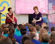 First Minister Attends Book Festival's ReimagiNation: Irvine Festival