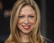 Chelsea Clinton with Sally Magnusson