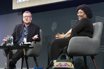Zindzi Mandela with Allan Little (2018 Event)